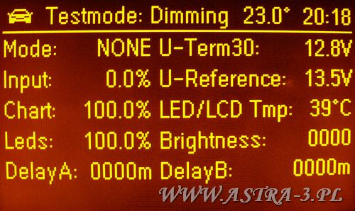 testmode dimming